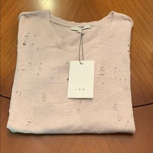 Clay Holey Tee in Pink